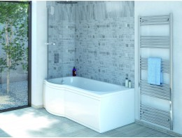 P Shape Bath Bath Screen And Bath Side Panel