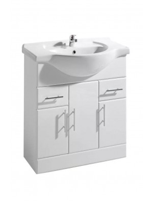 750mm Bathroom Vanity Unit Sink Basin Cabinet Suite